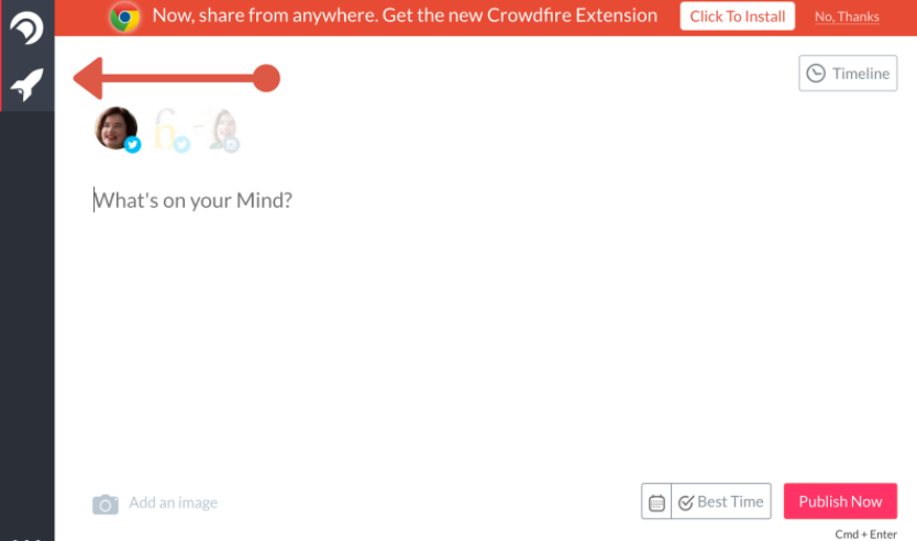 publish crowdfire