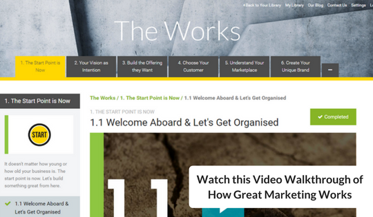 Watch this Video Walkthrough of How Great Marketing Works